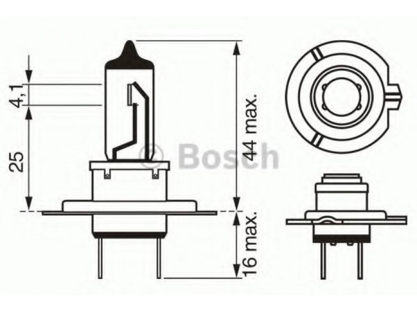 Халогенна крушка Bosch H7 Xenon Effect 12V, 55W, PX26d, 1 брой 2