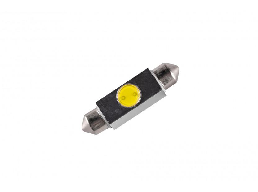 LED лампа AutoPro C5W студено бяла, 1W, SV8.5-8, 42 мм, 1брой 2
