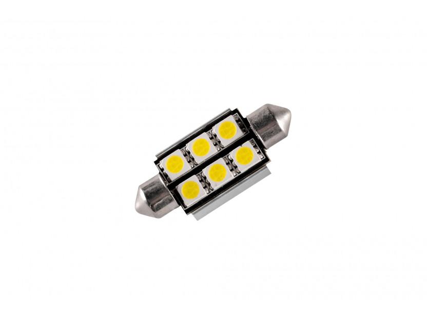 LED лампа AutoPro C5W студено бяла, 12V, 0.5W, SV8.5-8, 39 мм, 1 брой 2