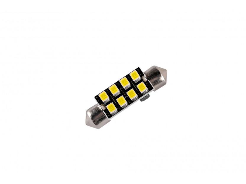 LED лампа AutoPro C5W Canbus, студено бяла, 12V, 0.5W, SV8.5-8, 36мм, 1брой 2