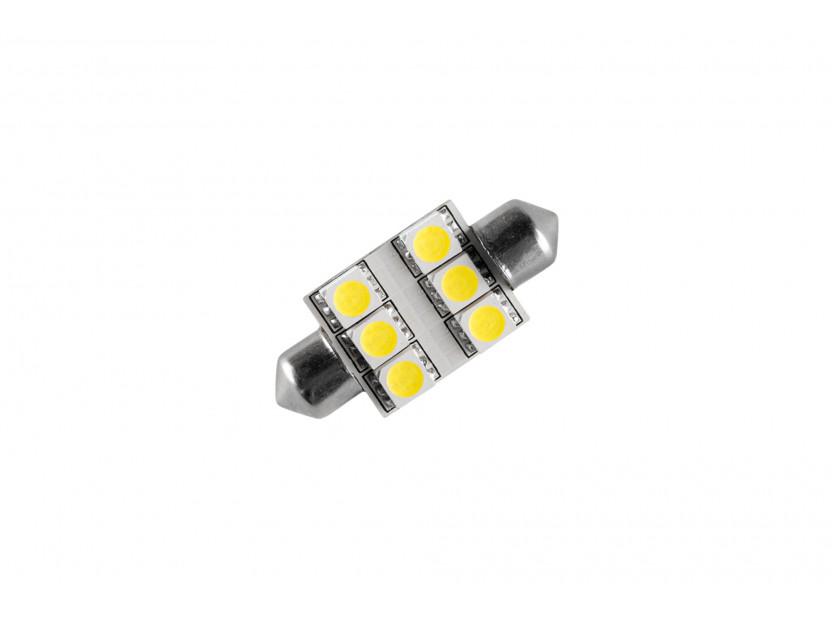 LED лампа AutoPro C5W студено бяла, 12V, 0.5W, SV8.5-8, 36 мм, 1брой 2