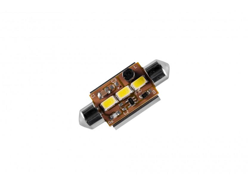 LED лампа AutoPro C5W Canbus, студено бяла, 12V, 0.5W, SV8.5-8, 42 мм, 1 брой 2