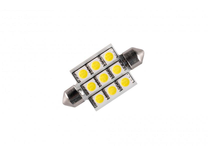 LED лампа AutoPro C5W студено бяла, 12V, 0.5W, SV8.5-8, 42 мм, 1брой 2