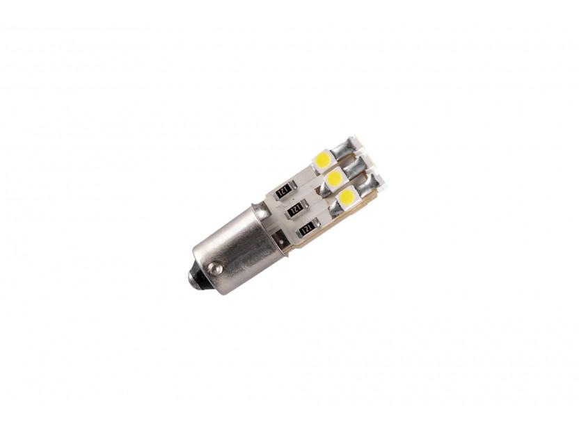 LED лампа AutoPro T4W студено бяла, 12V, 1W, BA9s, 1брой 2