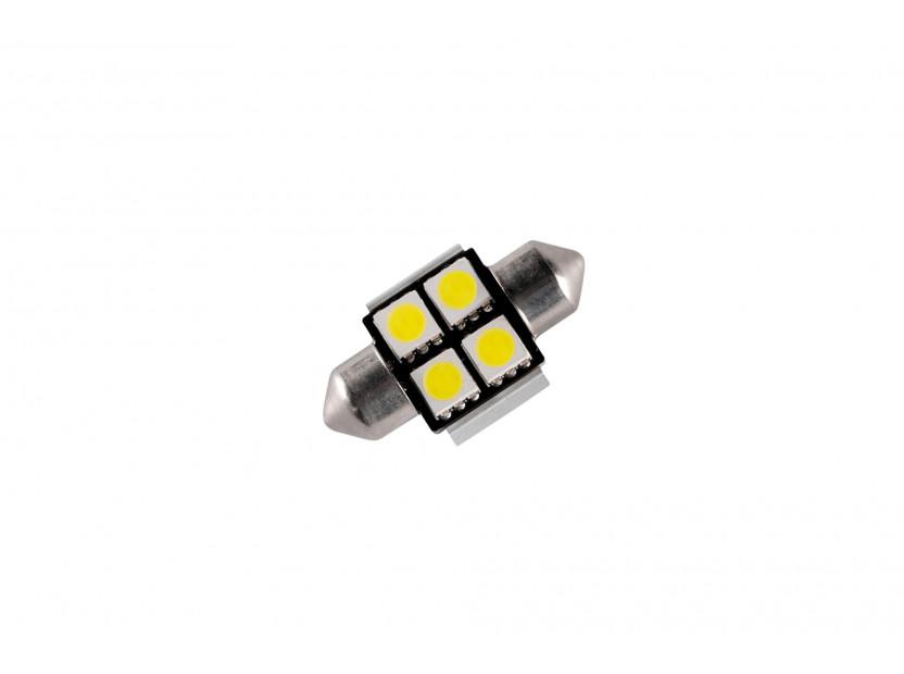LED лампа AutoPro C5W студено бяла, 12V, 0.5W, SV8.5-8, 31 мм, 1 брой 2