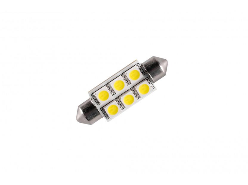 LED лампа AutoPro C5W студено бяла, 12V, 0.5W, SV8.5-8, 39 мм, 1брой 2