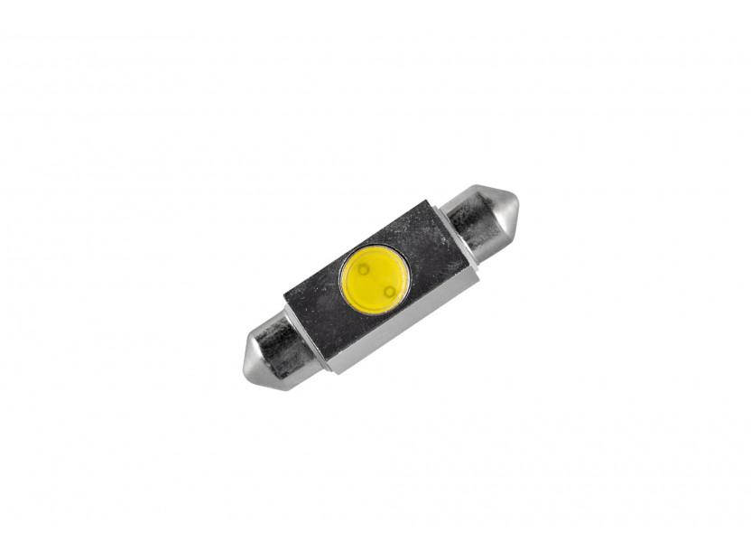 LED лампа AutoPro C5W студено бяла, 1W, SV8.5-8, 39 мм, 1брой 2