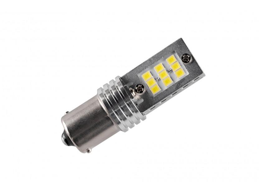 LED лампа AutoPro P21W студено бяла, 12V, 6W, BA15s, 1брой 2
