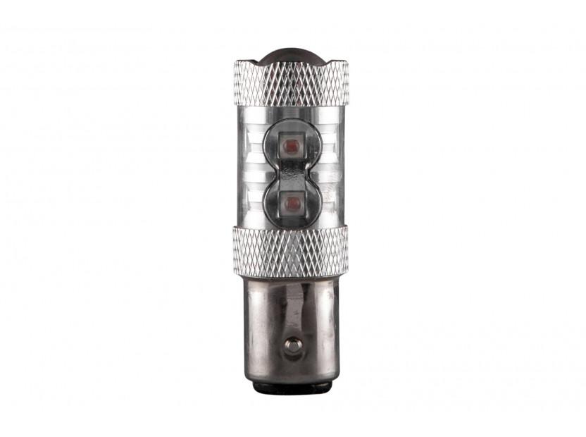 LED лампа AutoPro P21W/5W оранжева, 12V, 50W, BA15s, 1 брой