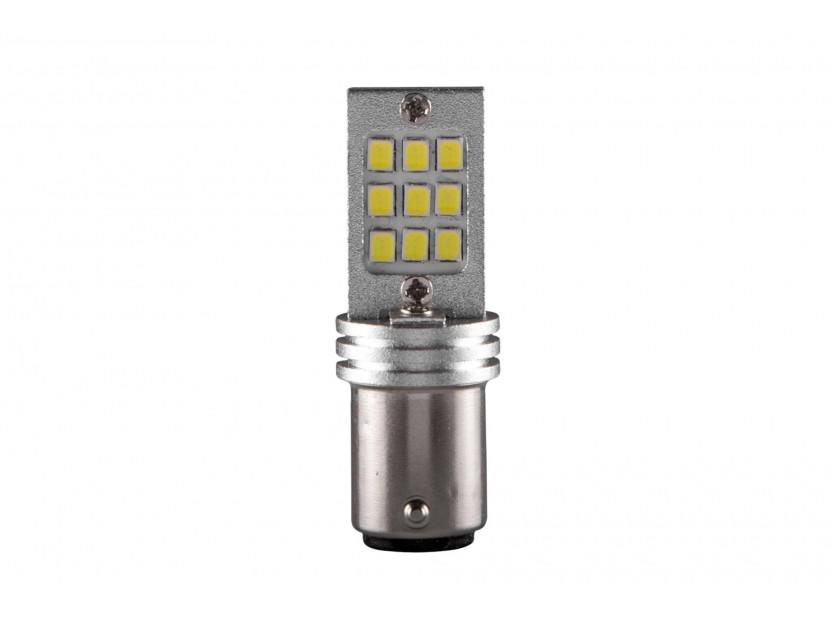LED лампа AutoPro P21/5W студено бяла, 12V, 6/1W, BAY15d, 1брой