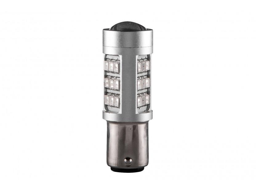 LED лампа AutoPro P21W/5W червена, 12V, 10W, BAY15d, 1 брой