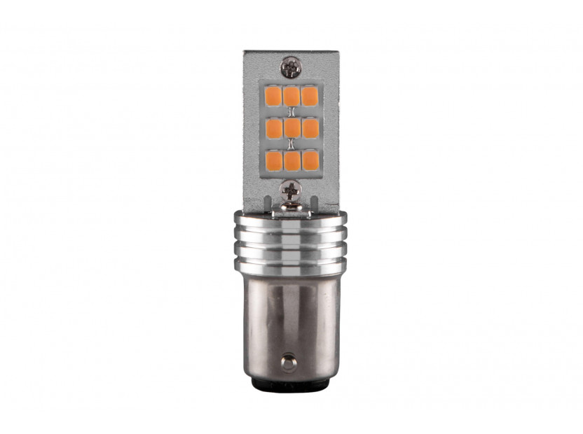 LED лампа AutoPro P21/5W оранжева, 12V, 6/1W, BAY15d, 1брой