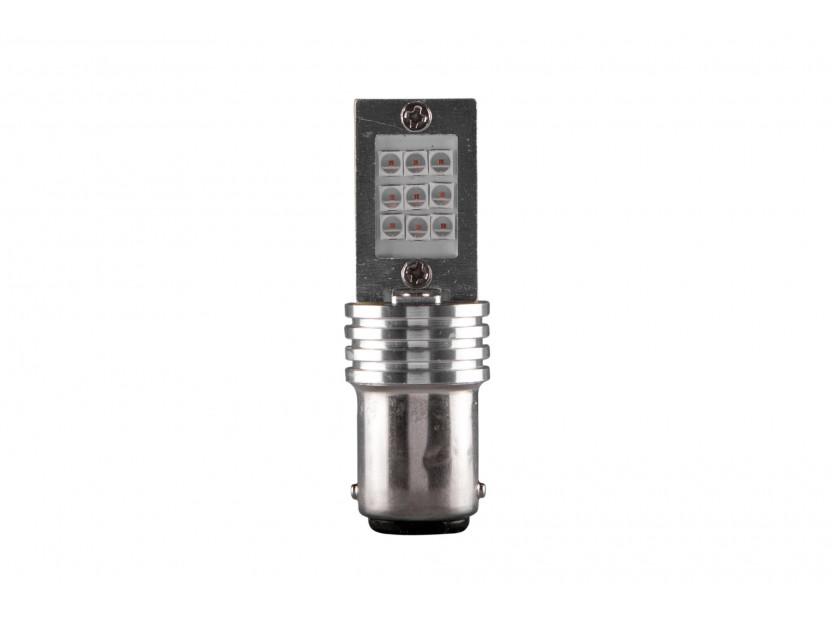 LED лампа AutoPro P21W оранжева, 12V, 6W, BA15s, 1брой