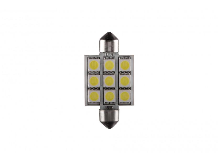 LED лампа AutoPro C5W студено бяла, 12V, 0.5W, SV8.5-8, 42 мм, 1брой