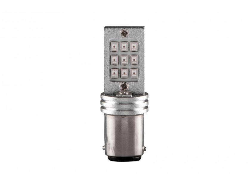 LED лампа AutoPro P21W червена, 12V, 6W, BA15s, 1брой