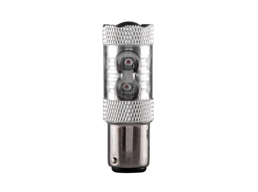 LED лампа AutoPro P21W червена, 12V, 50W, BA15s, 1 брой