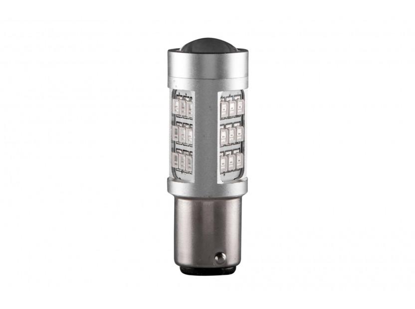 LED лампа AutoPro P21W червена, 12V, 10W, BA15s, 1 брой