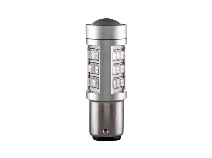 LED лампа AutoPro P21W оранжева, 12V, 10W, BA15s, 1 брой
