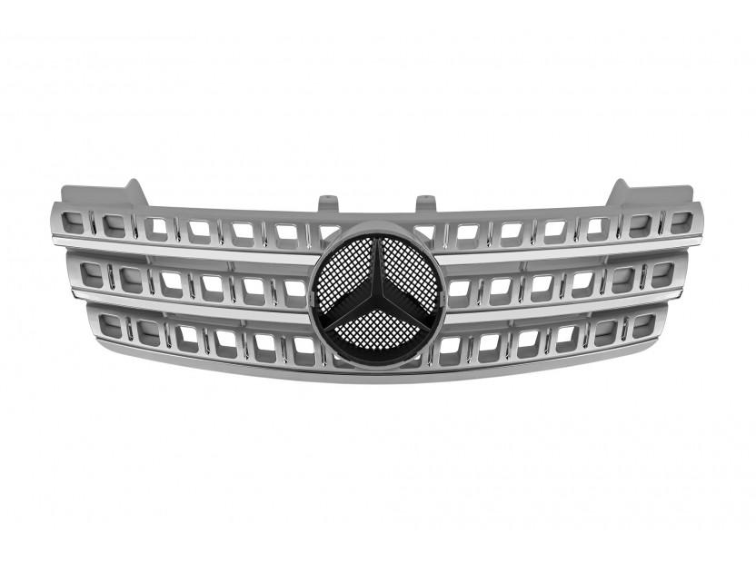 Хром/сива решетка за Mercedes M класа ML W164 2005-2008