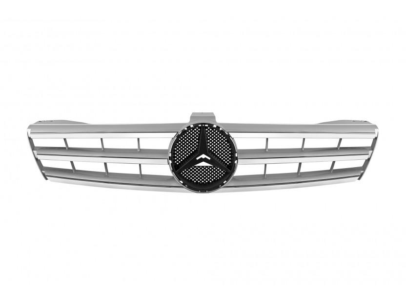 Хром/сива решетка за Mercedes CLS класа W219 2004-2008