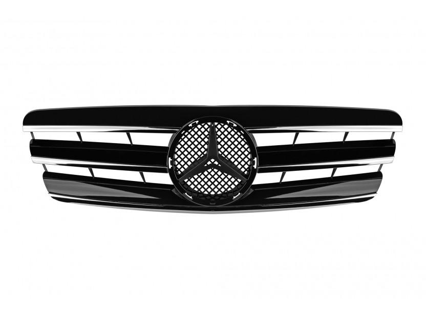 Хром/черна решетка за Mercedes C класа W203 2000-2007