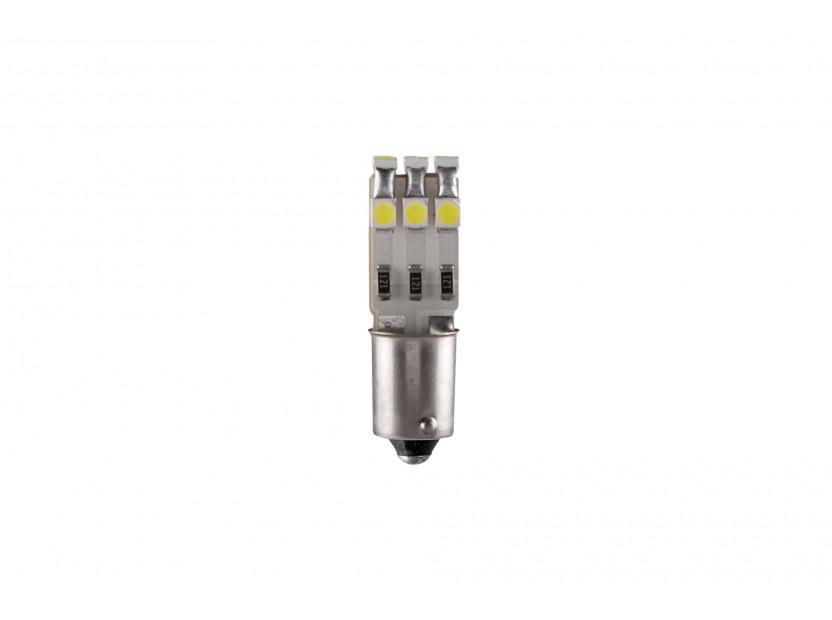 LED лампа AutoPro T4W студено бяла, 12V, 1W, BA9s, 1брой