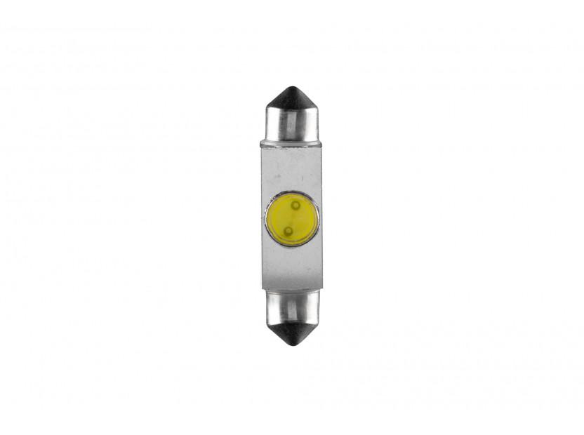 LED лампа AutoPro C5W студено бяла, 1W, SV8.5-8, 42 мм, 1брой