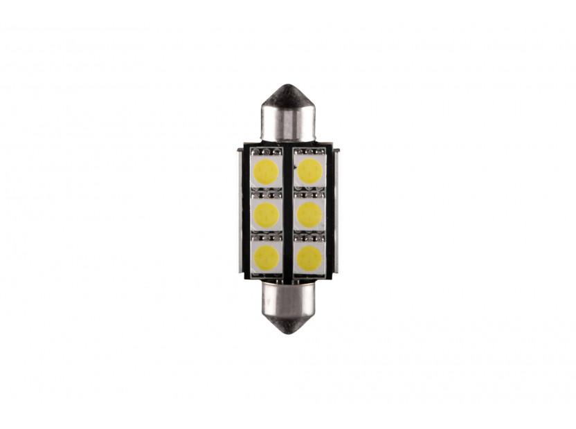 LED лампа AutoPro C5W студено бяла, 12V, 0.5W, SV8.5-8, 42 мм, 1 брой