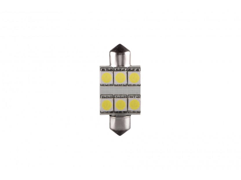 LED лампа AutoPro C5W студено бяла, 12V, 0.5W, SV8.5-8, 36 мм, 1брой
