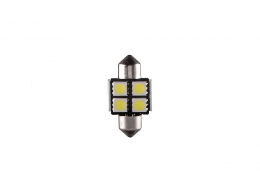 LED лампа AutoPro C5W студено бяла, 12V, 0.5W, SV8.5-8, 31 мм, 1 брой