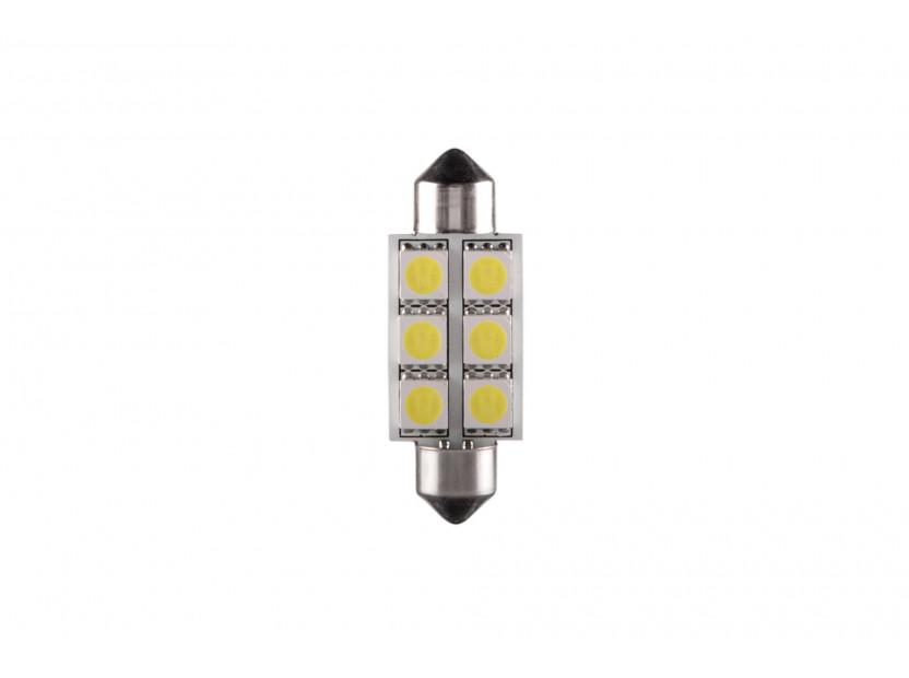 LED лампа AutoPro C5W студено бяла, 12V, 0.5W, SV8.5-8, 39 мм, 1брой