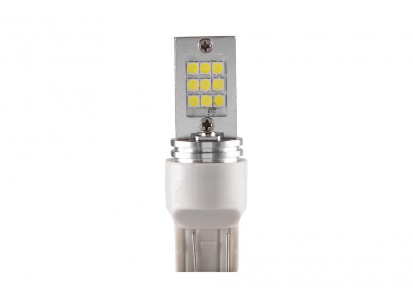 LED лампа AutoPro W21W/5W студено бяла, 12V, 9W, W3x16q, 1 брой