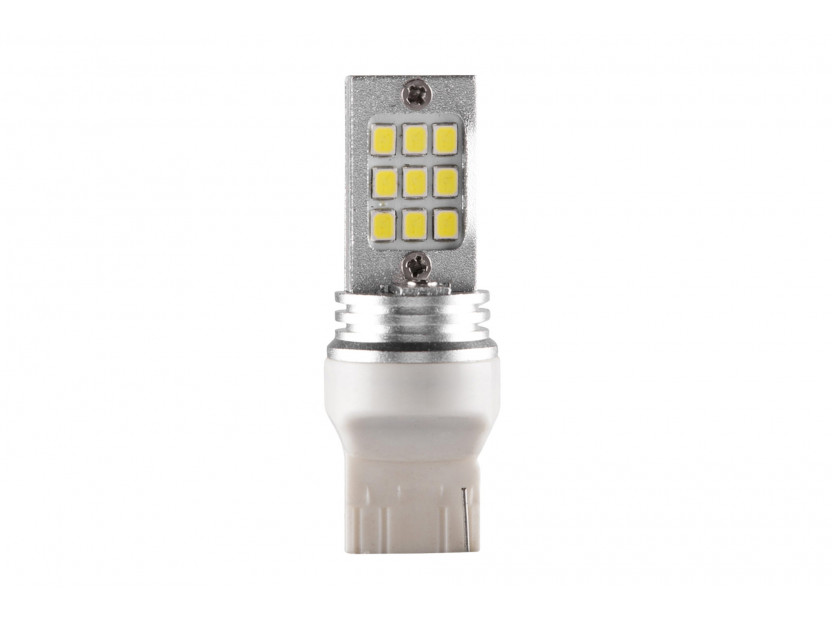 LED лампа AutoPro W21W студено бяла, 12V, 6W, W3x16d, 1 брой