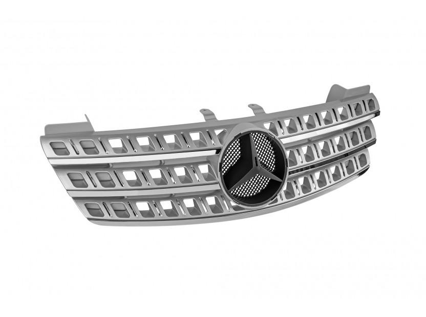 Хром/сива решетка за Mercedes M класа ML W164 2005-2008 2