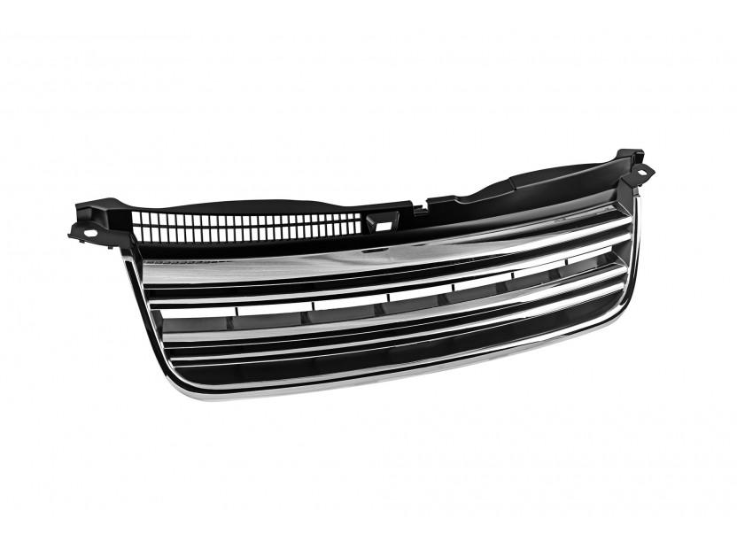 Хром/черна решетка тип R LINE без емблема за VW Passat 2000-2005 2