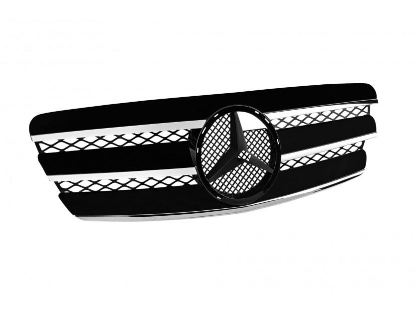 Хром/черна решетка за Mercedes E класа W211 2002-2006 2