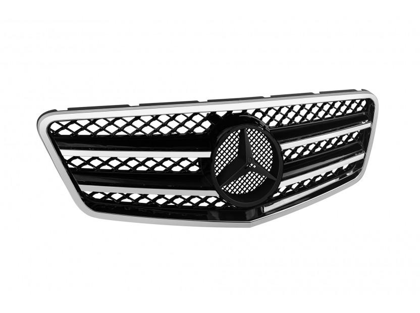 Хром/черна решетка тип AMG за Mercedes E класа W212 2009-2013 2
