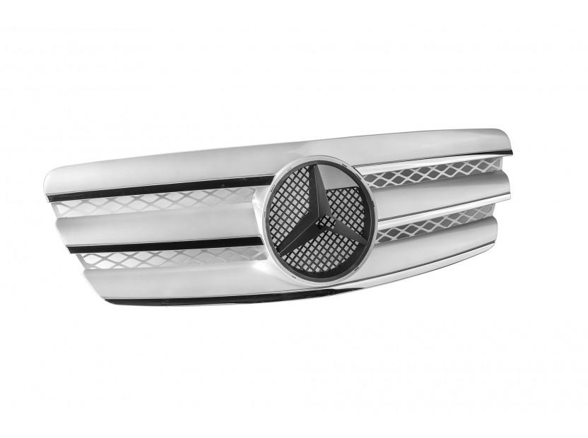 Хром/сива решетка за Mercedes E класа W211 2002-2006 2