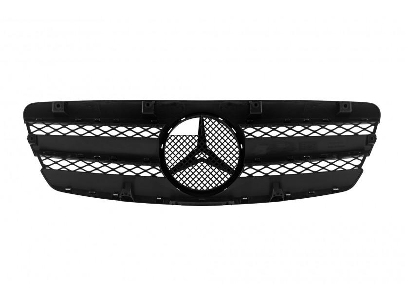 Хром/черна решетка за Mercedes E класа W211 2002-2006 3