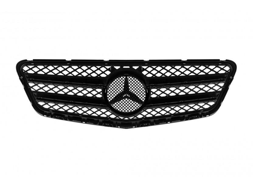 Хром/черна решетка тип AMG за Mercedes E класа W212 2009-2013 3