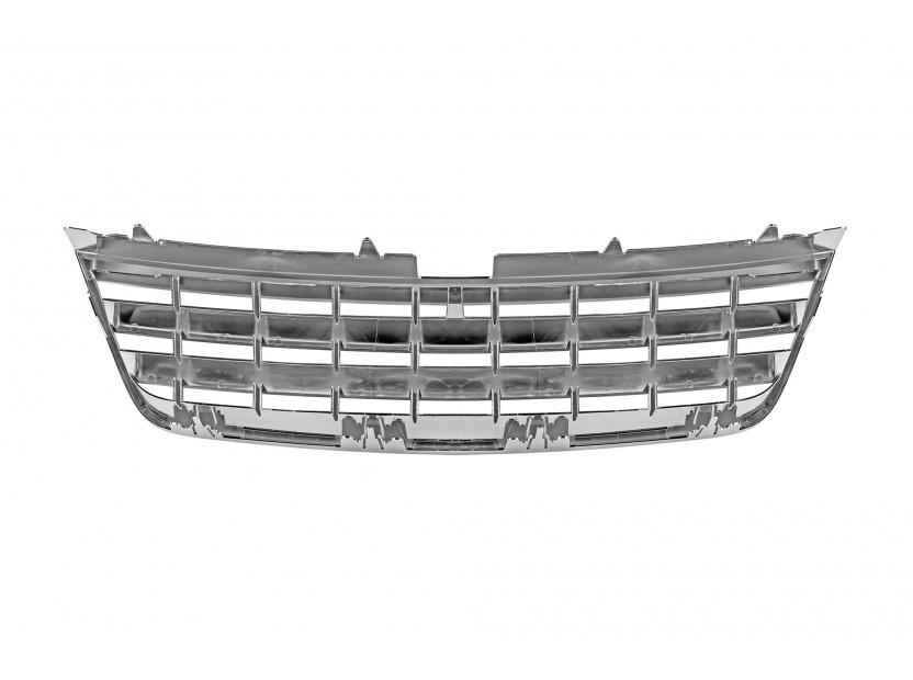 Хром/черна решетка без емблема за VW Touareg 2002-2006 3