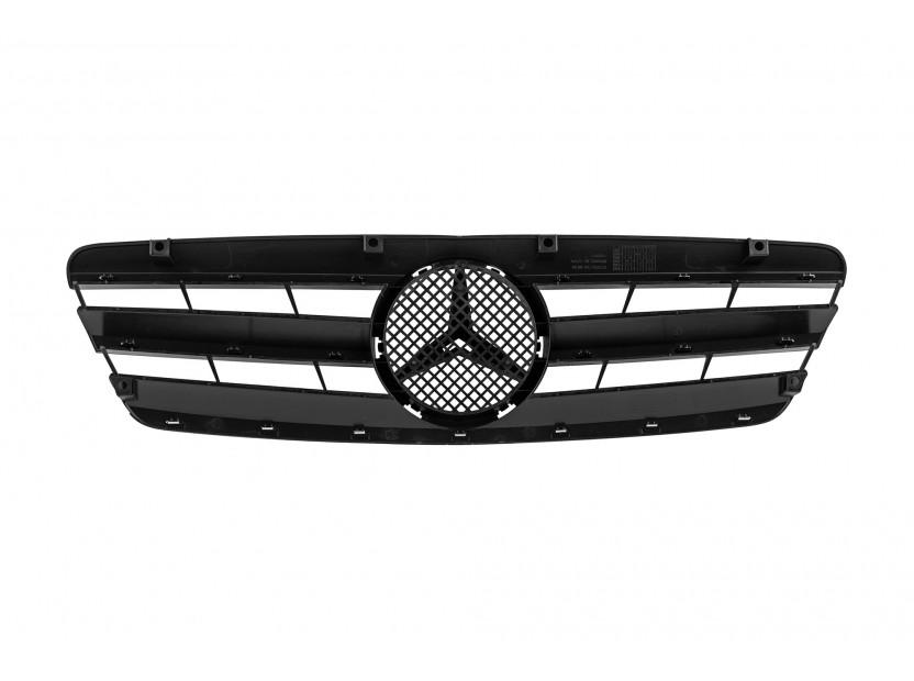 Хром/черна решетка за Mercedes C класа W203 2000-2007 3
