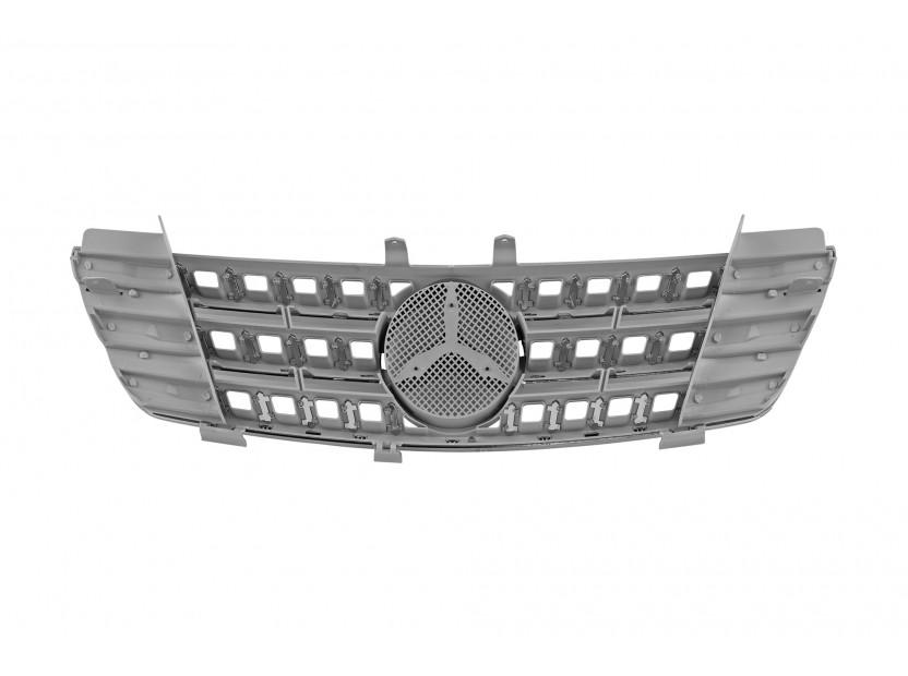 Хром/сива решетка за Mercedes M класа ML W164 2005-2008 3