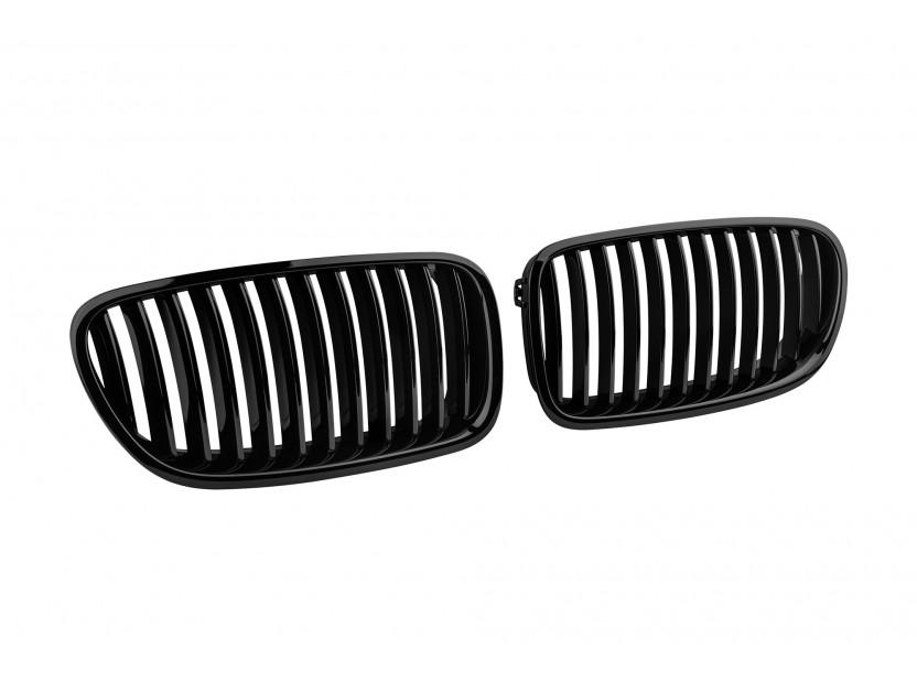 Бъбреци черен лак за BMW серия 5 F10 седан, F11 комби 2010-2017 2