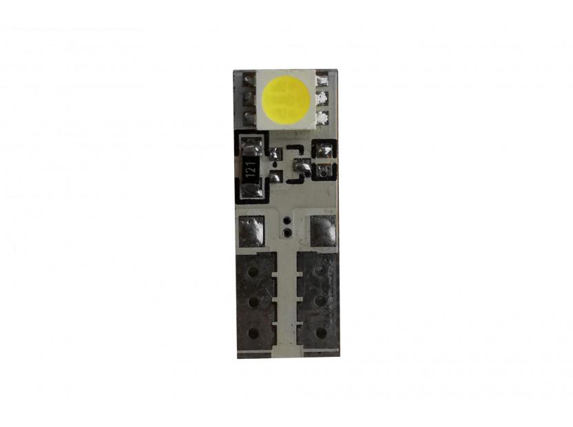 LED лампа AutoPro W5W Canbus, студено бяла, 12V, 1W, W2.1x9.5d, 1 брой