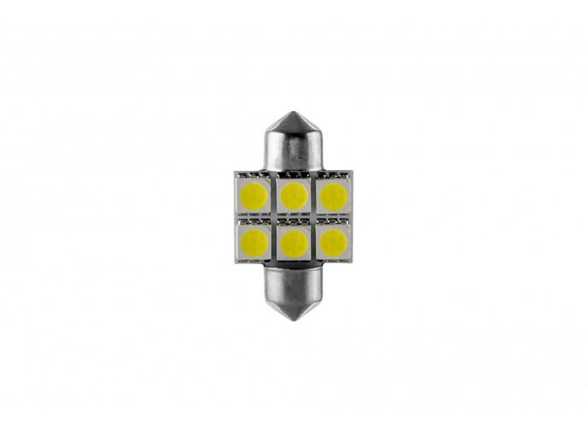 LED лампа AutoPro C5W студено бяла, 12V, 0.5W, SV8.5-8, 31 мм, 1брой