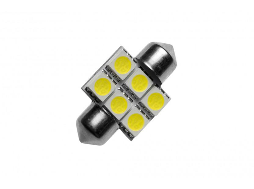 LED лампа AutoPro C5W студено бяла, 12V, 0.5W, SV8.5-8, 31 мм, 1брой 2