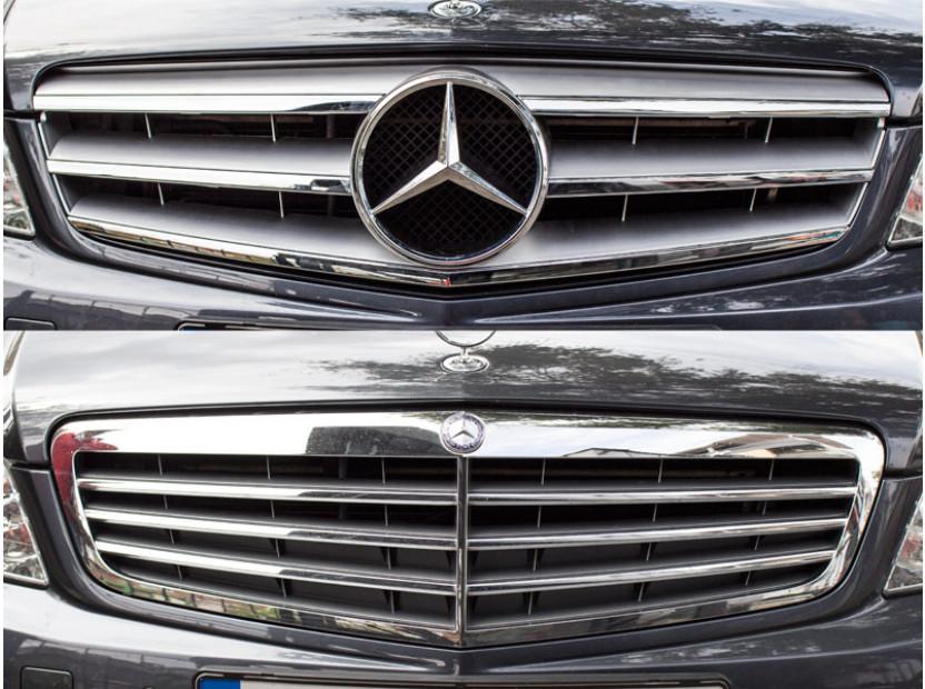 Хром/сива решетка тип Avantgarde за Mercedes C класа W204 2007-2014 4