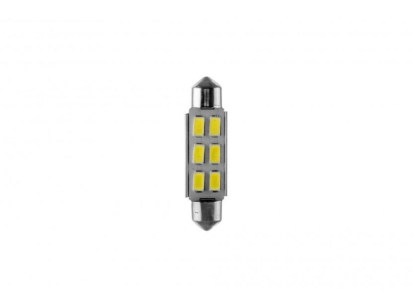 LED лампа AutoPro C5W Canbus, студено бяла, 12V, 0.5W, SV8.5-8, 42 мм, 1 брой