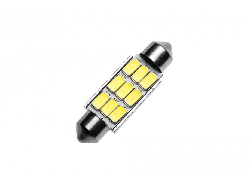 LED лампа AutoPro C5W Canbus, студено бяла, 12V, 0.5W, SV8.5-8, 39 мм, 1 брой 2